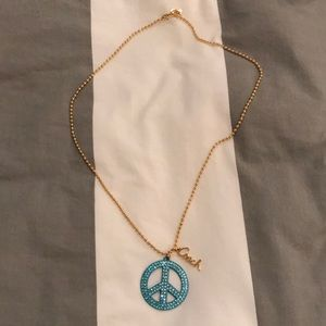 Coach Peace Sign Necklace